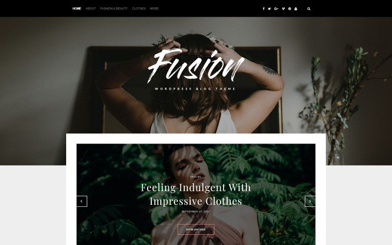 Fusion - тема для блогов WordPress тема WordPress