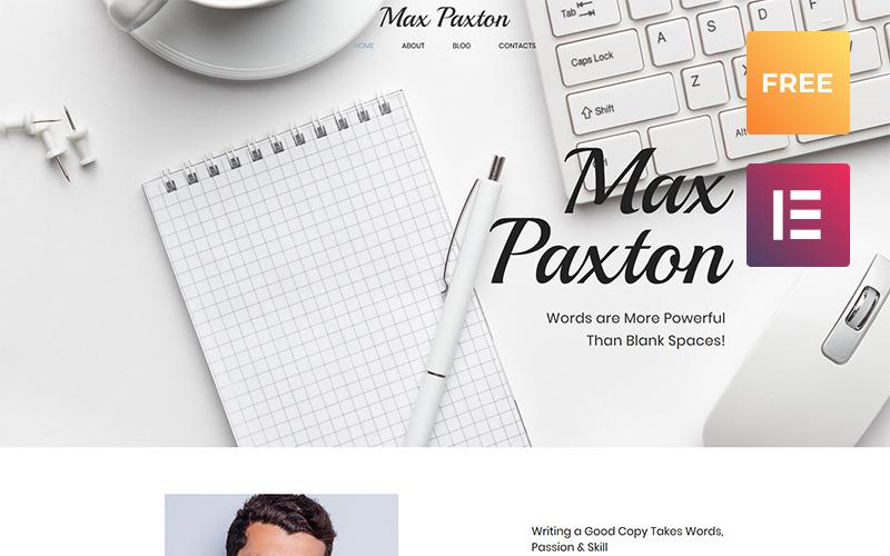Max Paxton Lite - Texter Persönliche Website Kostenloses WordPress-Theme