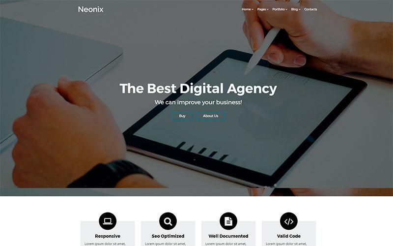 Neonix - Modèle de site Web HTML pour agence numérique
