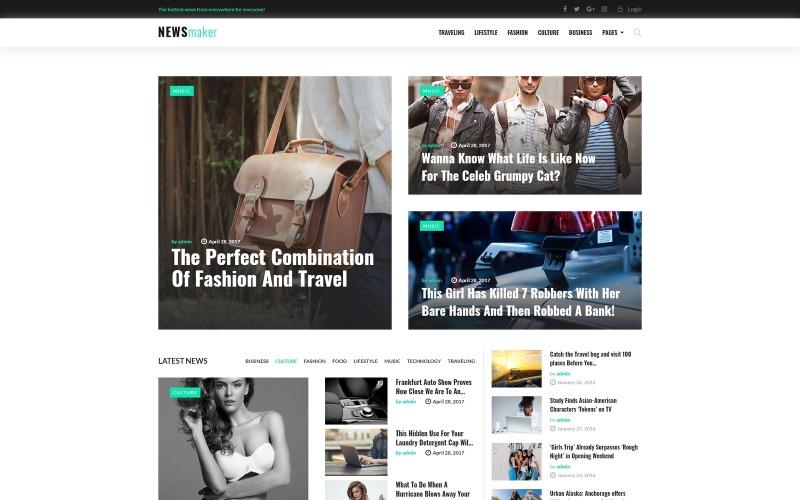 NEWSmaker - тема WordPress для новостей и журналов