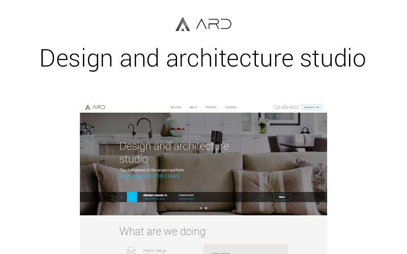 Modello di sito web ARD di Design Studio