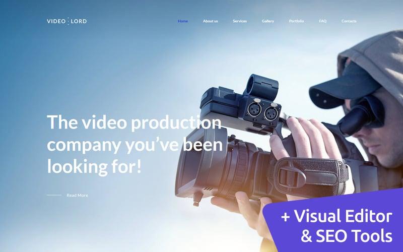 Video Production Studio Premium Moto CMS 3 Template