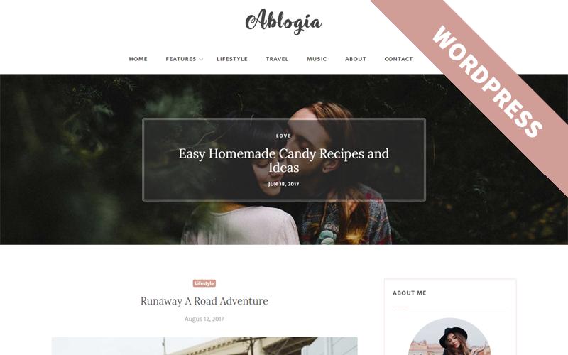 Аблогія - Тема WordPress для особистого блогу