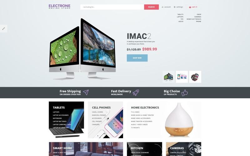 Адаптивный OpenCart шаблон для магазина электроники