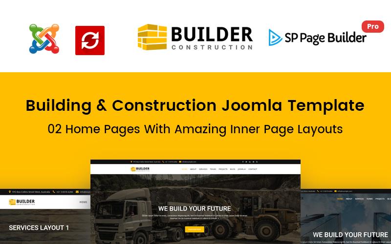 Constructeur - Modèle Joomla pour entreprise de construction