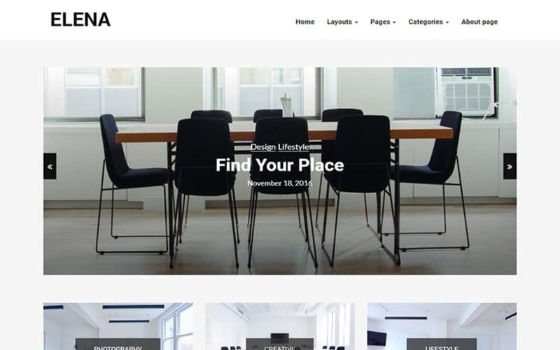 Elena - адаптивная тема WordPress для блогов
