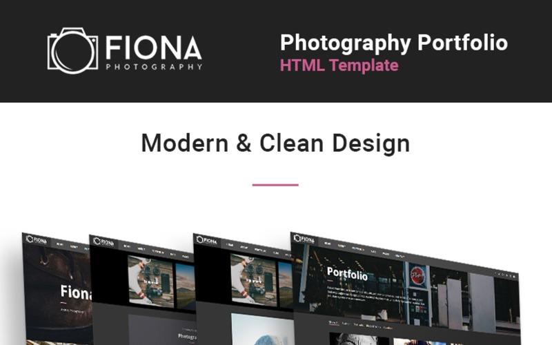 Fiona - Modèle de site Web de portfolio de galerie de photos