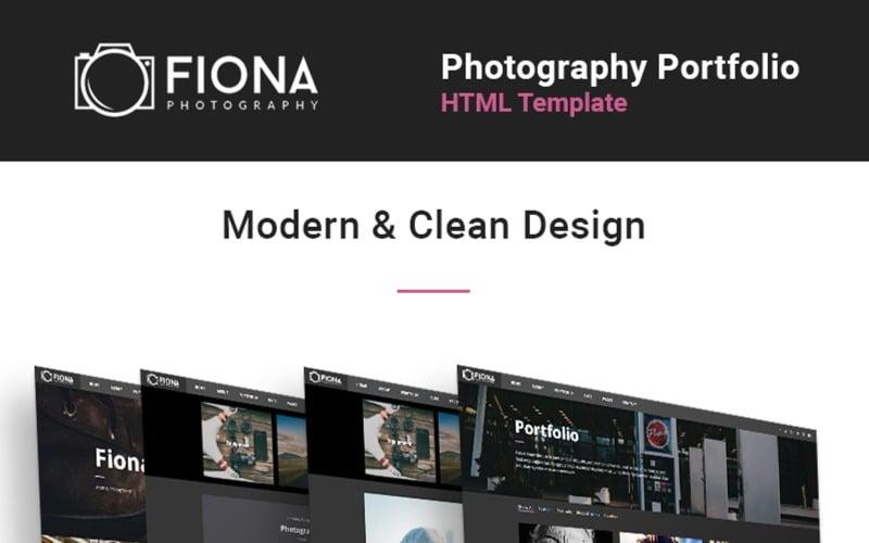 Fiona -  Photo Gallery Portfolio Website Template