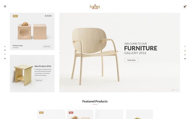 Hurst - Modello di sito web per e-commerce di mobili