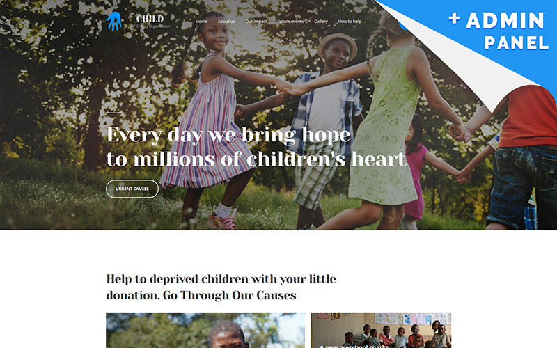 Mall för välgörenhetsmålsida