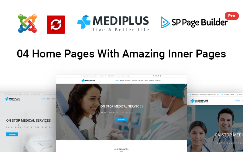Mediplus - Modèle Joomla médical