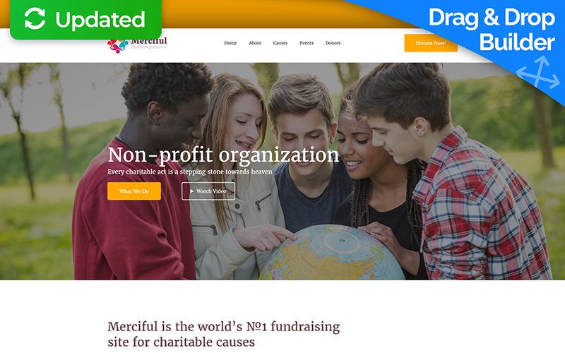 Modèle de page de destination de charité