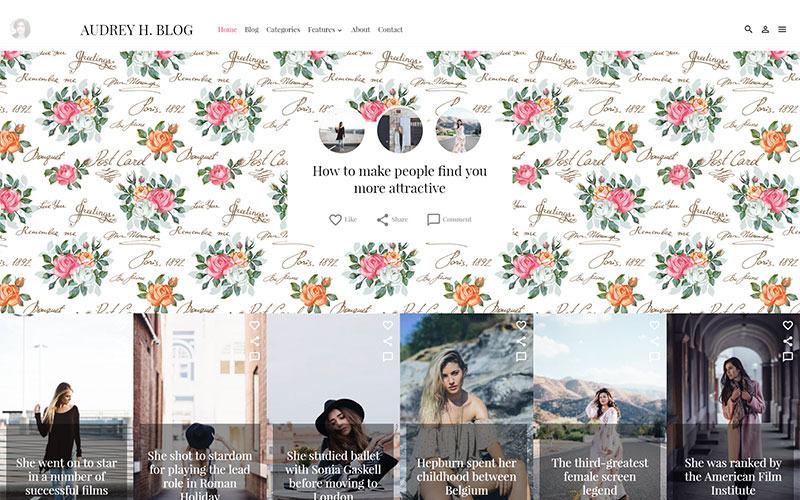 Тема Одри WordPress