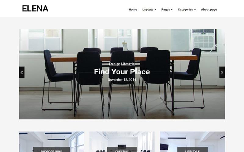 Elena - Tema WordPress per blog reattivo