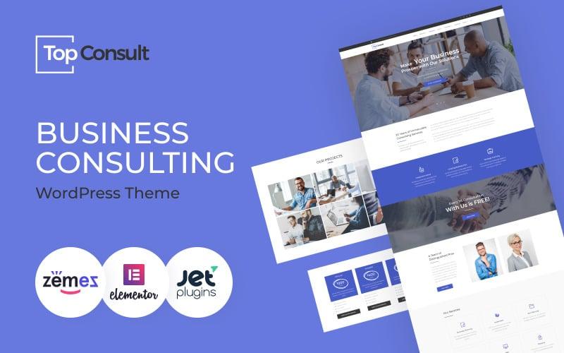 TopConsult - Tema WordPress de Consultoria de Negócios
