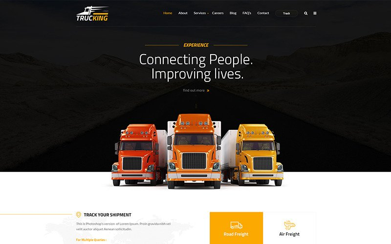 Trucking - Logistics and Transportation HTML Website Template