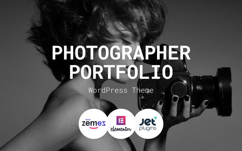 Анна Солас - тема WordPress для портфолио фотографа