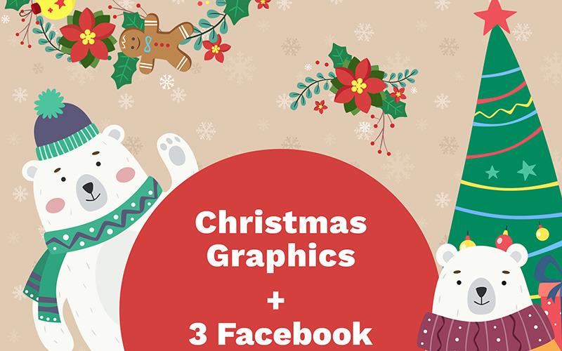 Facebook Titelbilder und Weihnachten - Illustration