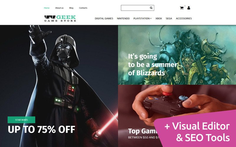 Geek - Game Shop MotoCMS Ecommerce Template