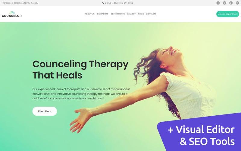 Лайф-коуч - шаблон Moto CMS 3 для психологической терапии