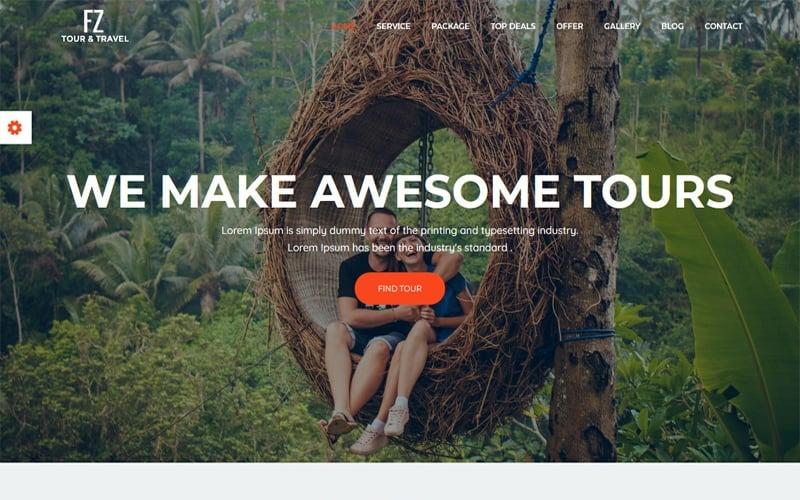 FZ - Modello di sito Web Bootstrap per agenzia di viaggi e viaggi