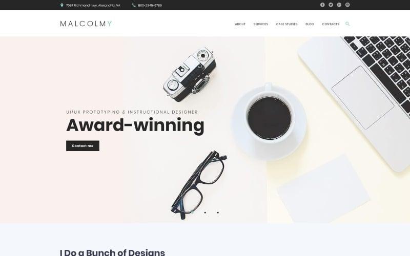 MalcolmY - Freelance Designer Personal Portfolio Lite Бесплатная тема WordPress