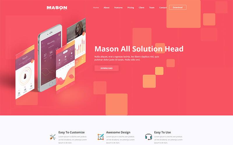 Mason - App Website Template