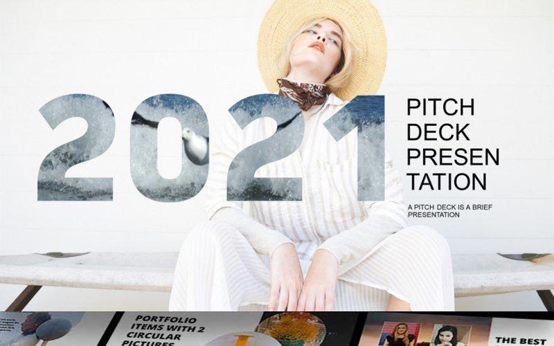 2021 Pitch Deck PowerPoint sablon