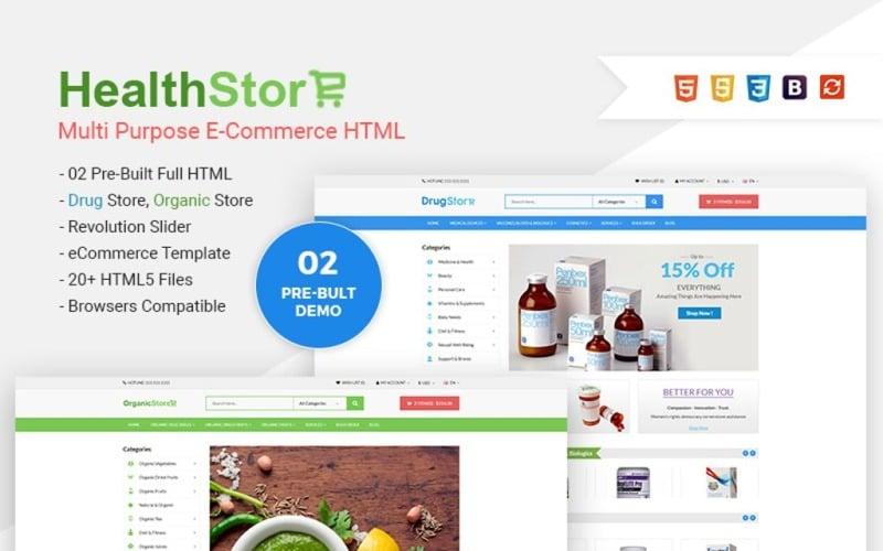 Health Shop - Multi Purpose eCommerce Website Template