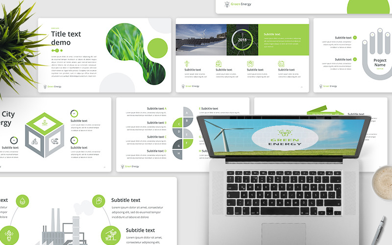 绿色能源-主题演讲模板