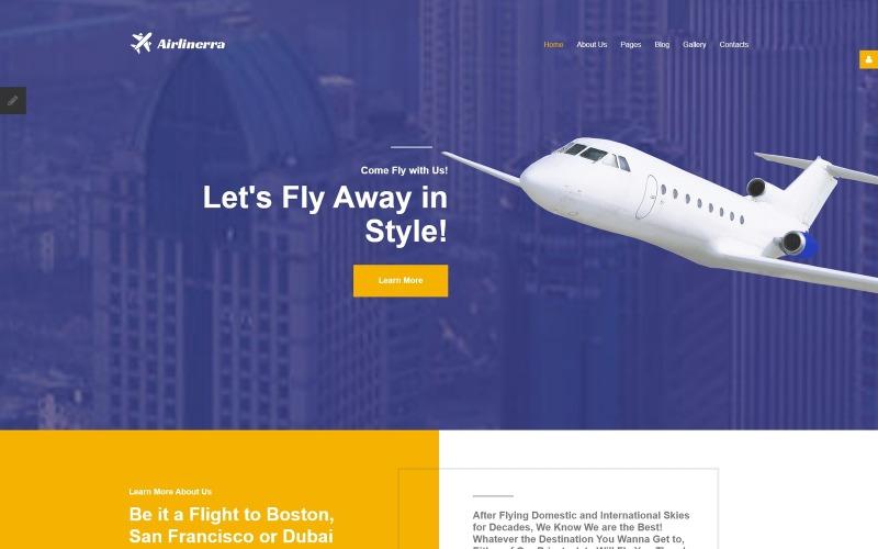 Airlinerra - Private Airline Joomla Template