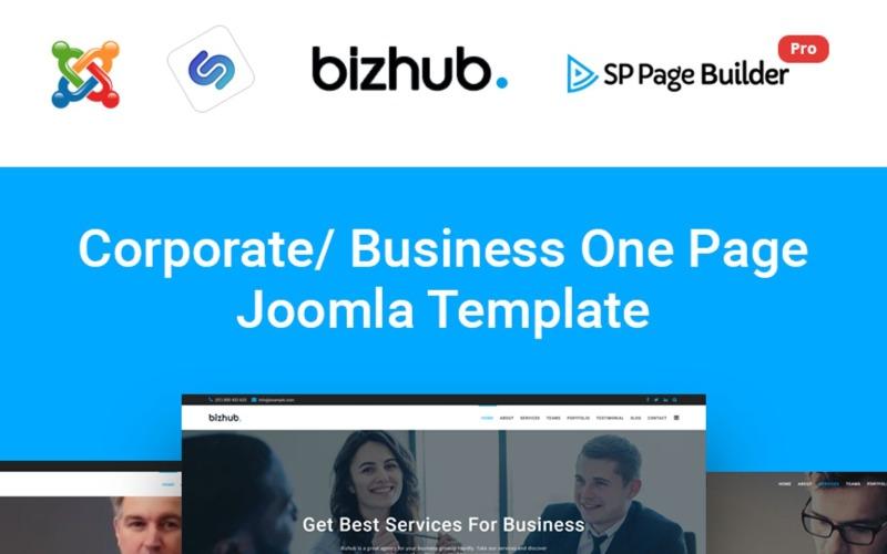 Bizhub - Business One Page Joomla Template
