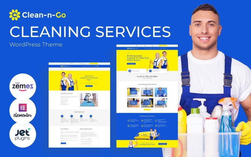 Clean-n-Go - WordPress Theme for Cleaning Services