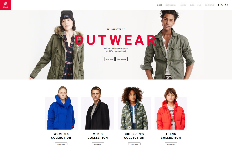 GoodWeather - Outdoor Clothing Shopify Theme