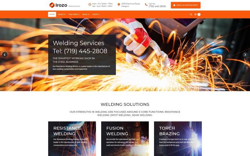 Irozo - Thème WordPress pour les services de soudage