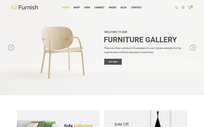 Mobília - Modelo de site de móveis minimalistas