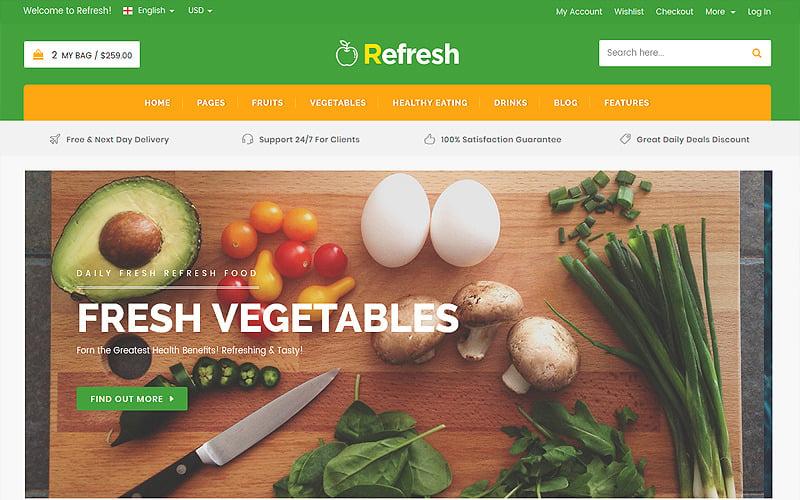 Refresh - Food & Restaurant Website Template
