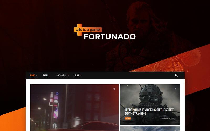Fortunado - WordPress motiv reagující na hráče
