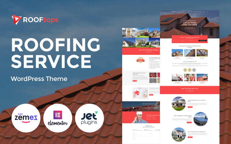 Rooftops - Roofing Services WordPress Theme