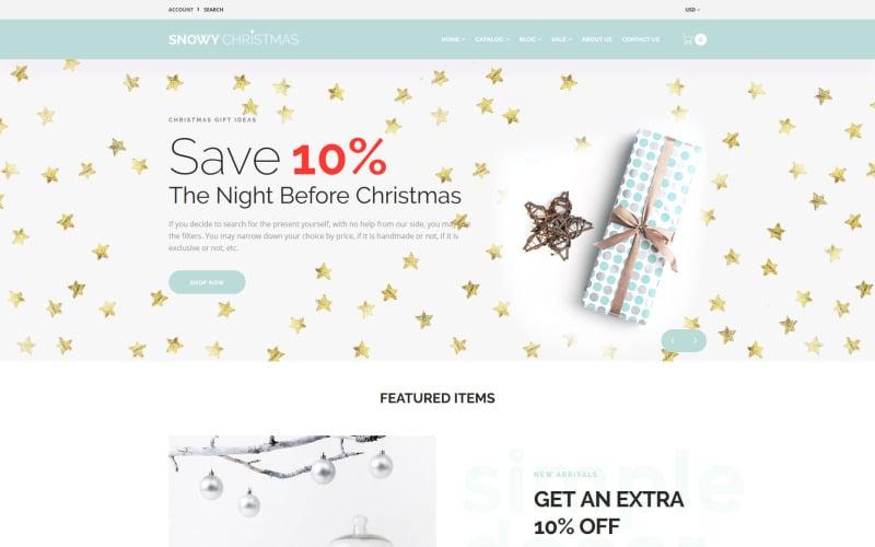Snowy Christmas - Christmas Gifts Shopify Theme