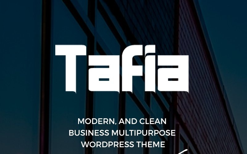 Tafia - Creative Business WordPress Theme