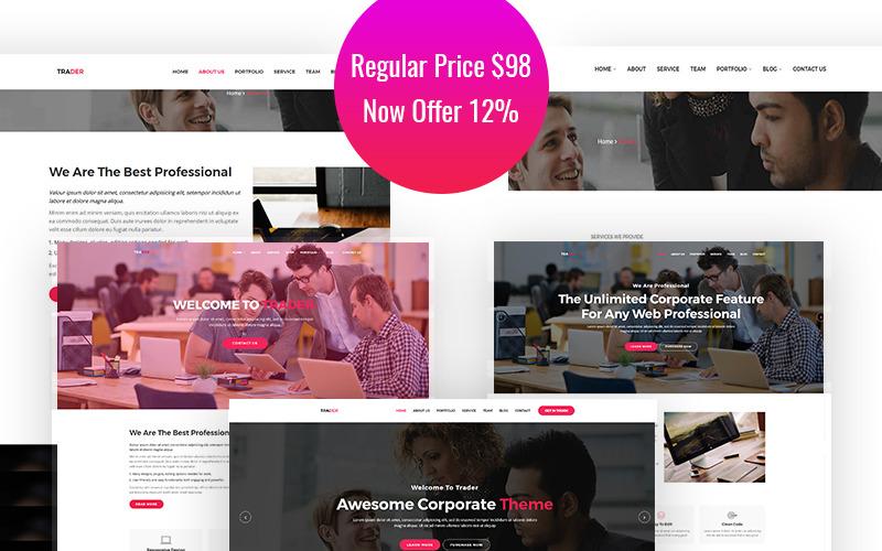 Trader - адаптивная креативная тема WordPress