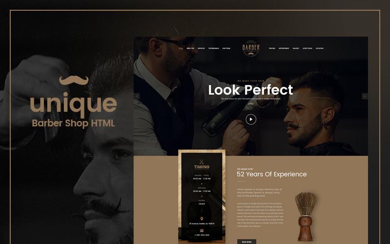 UNIQUE- Barber Salon Website Template