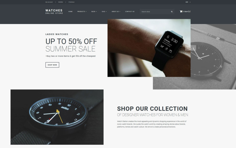 Watches - Online Store Shopify Theme