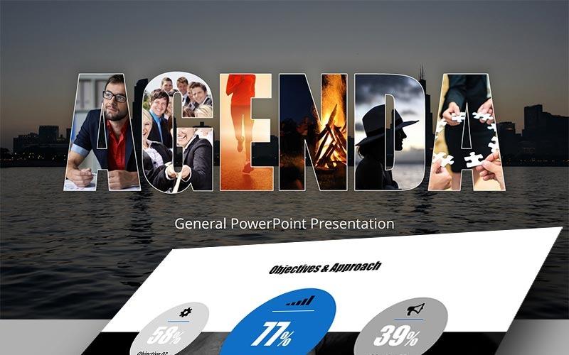 Modèle PowerPoint de agenda