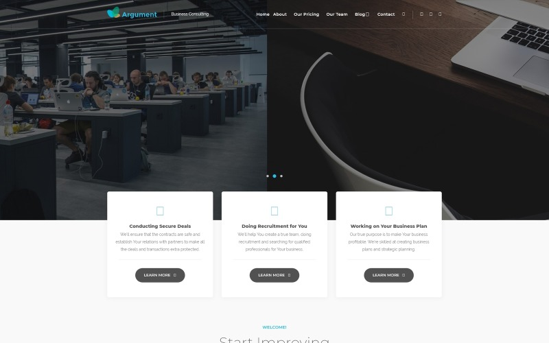 Argument Business Consulting WordPress Theme