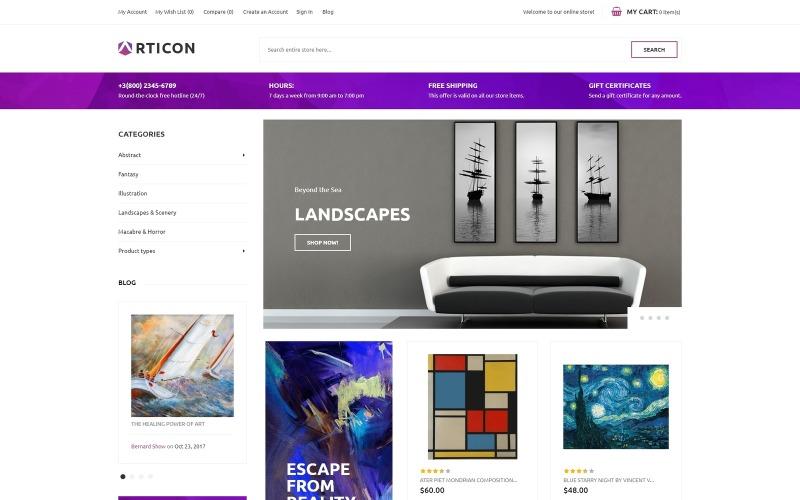 Articon - Magento téma - Galerie umění