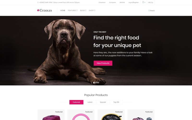 Cuddles - Pet Shop WooCommerce téma