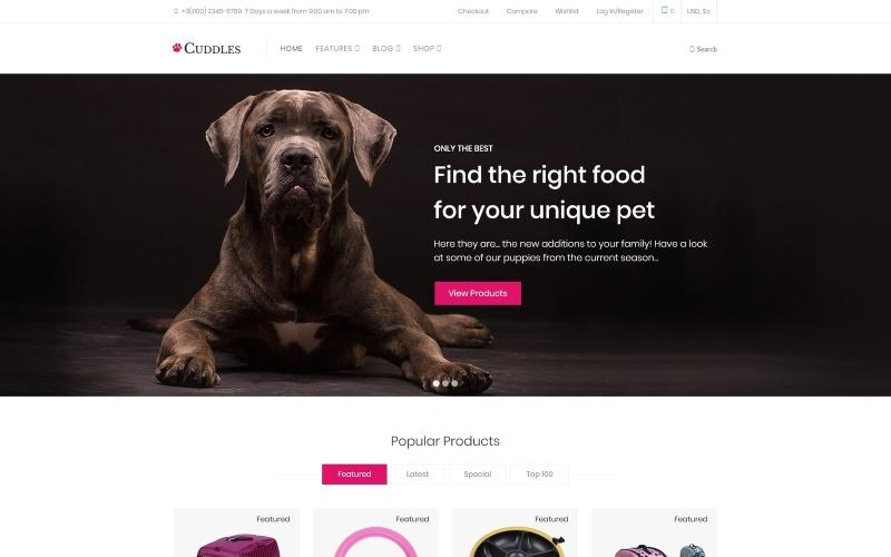 Cuddles - Pet Shop WooCommerce Theme
