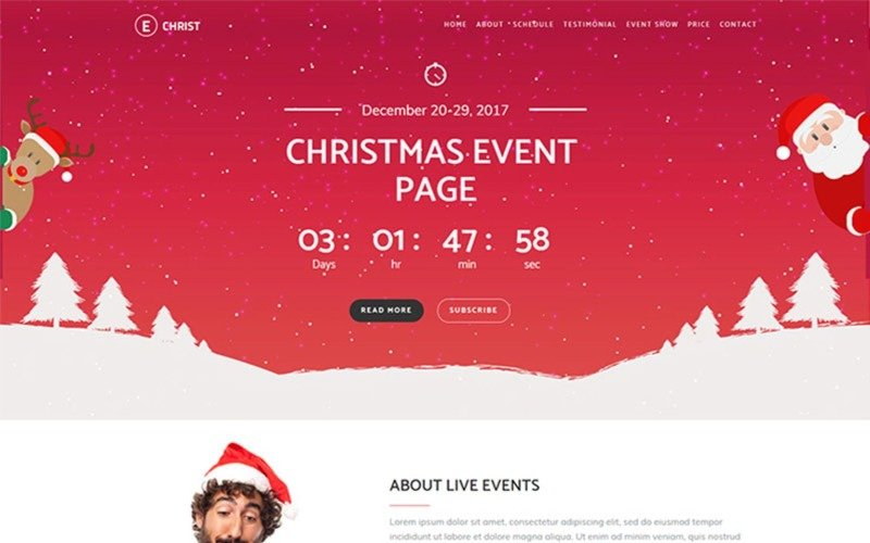 Echrist - Christmas Event Landing Page Template